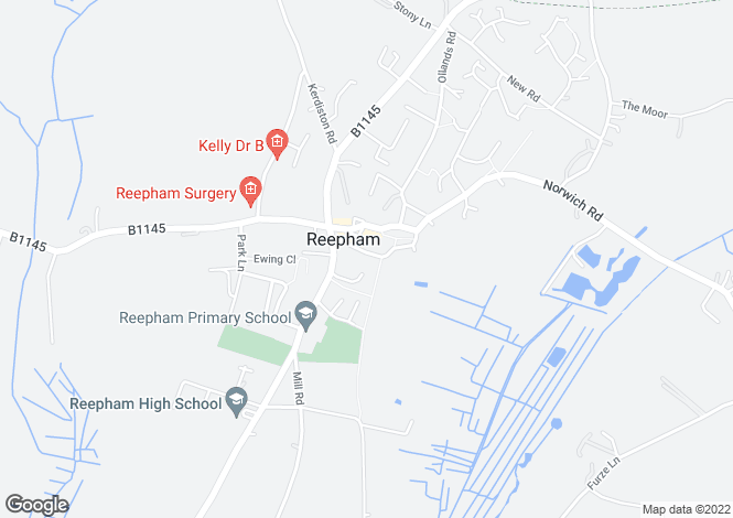Map for Reepham, NR10