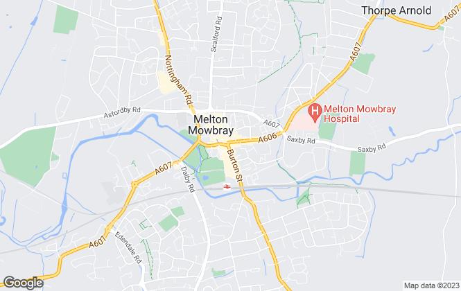 Map for Middletons, Melton Mowbray