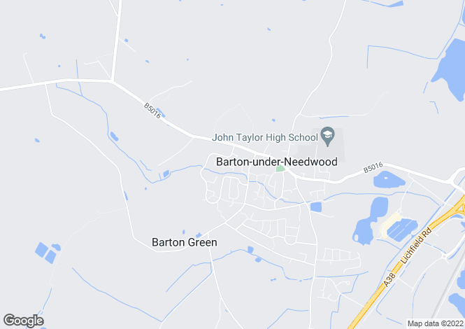Map for Fallowfield Drive, Barton under Needwood, BURTON-ON-TRENT, Staffordshire