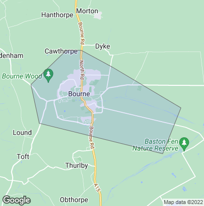 Map of property in Bourne