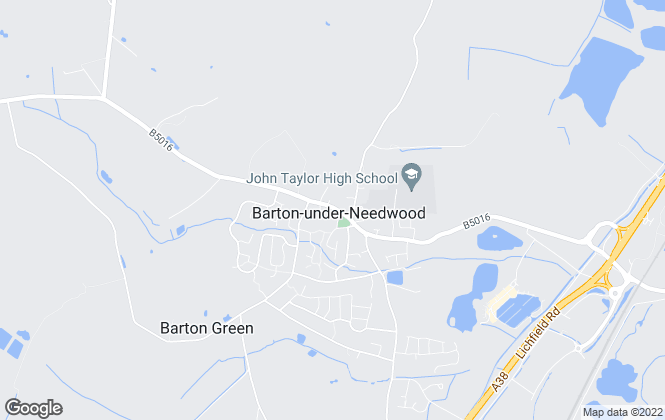 Map for John German, Barton Under Needwood