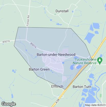 Map of property in Barton Under Needwood