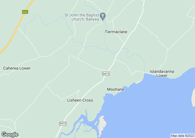 Map for Lisheen, Tiermaclane, Clare