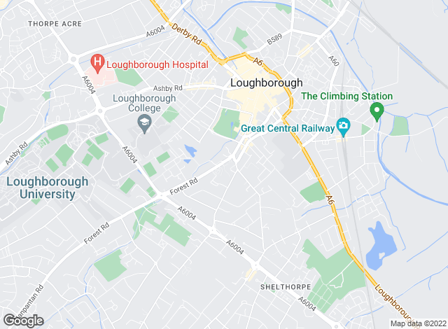 Map for John German Lettings , Loughborough