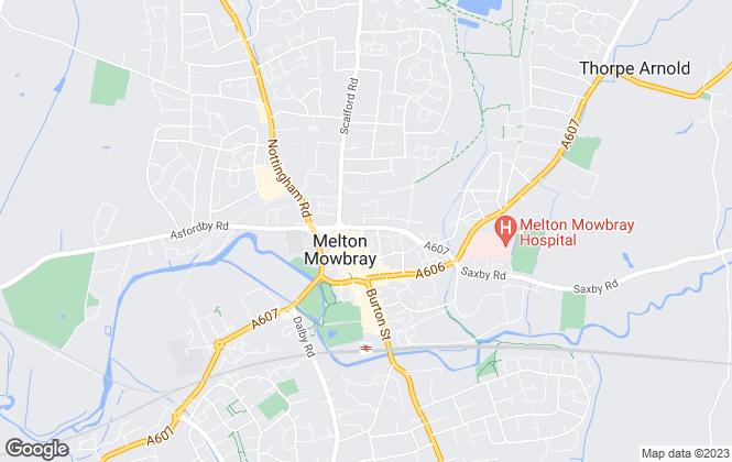 Map for Brown & Co, Melton Mowbray