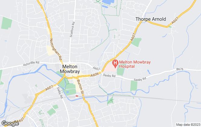 Map for Shouler & Son, Melton Mowbray