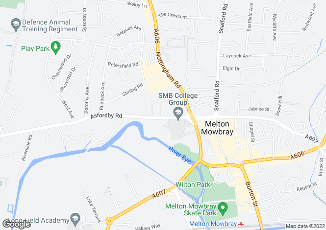 Map for Asfordby Road, Melton Mowbray, Melton Mowbray, Leicestershire, LE13