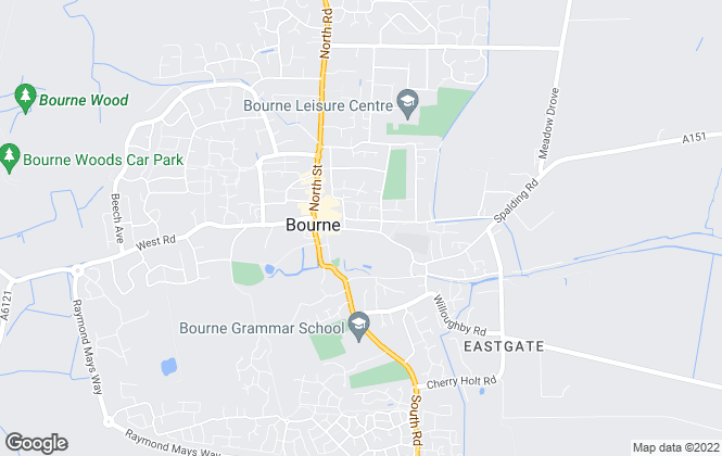 Map for Longstaff, Bourne - Lettings
