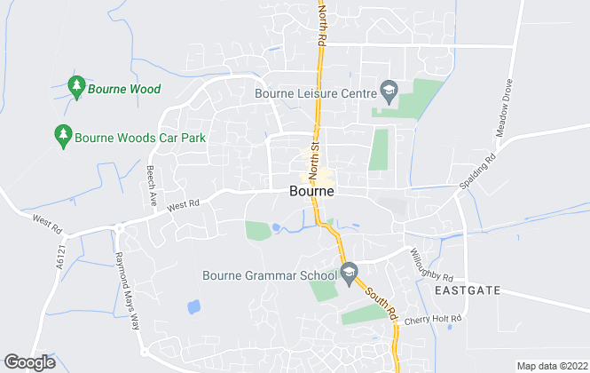 Map for Quentin Marks Estate Agents, Bourne