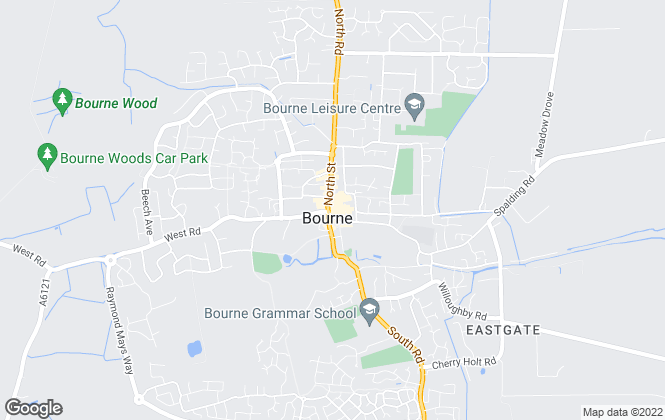 Map for Newton Fallowell, Bourne