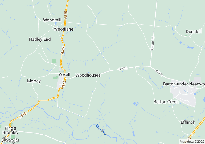Map for Woodhouses, Yoxall, DE13 8NR,