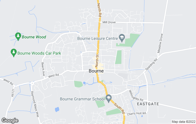 Map for Rosedale Property Agents, Bourne Sales