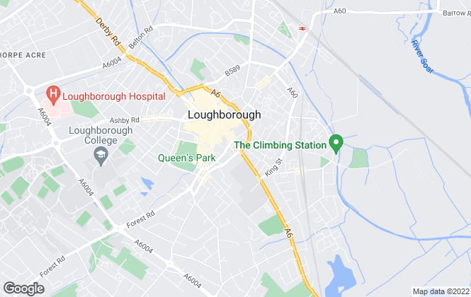 Map for Martin & Co, Loughborough - Lettings & Sales