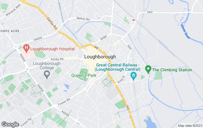 Map for Andrew Granger & Co, Loughborough