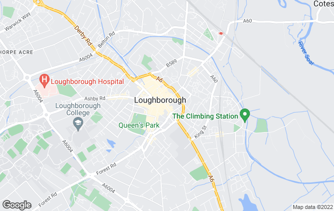 Map for Andrew Granger & Co, Loughborough