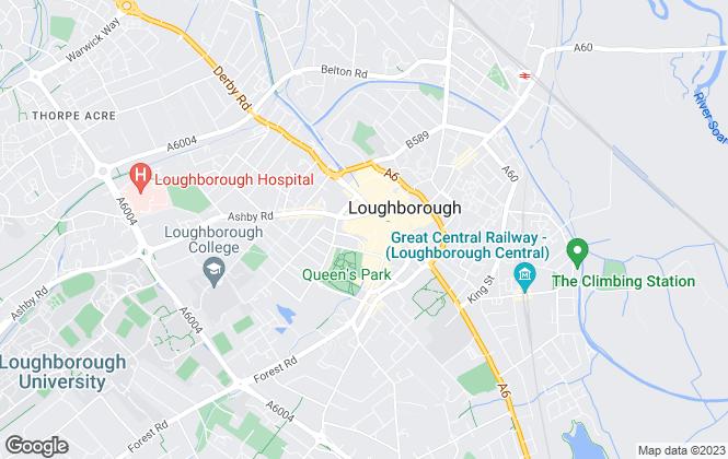 Map for Nicholas Humphreys, Loughborough - Lettings