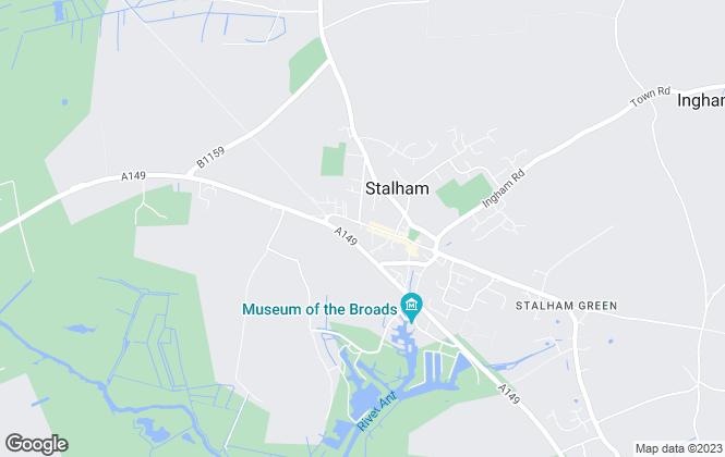 Map for Savannah Estates (UK) Ltd, Stalham
