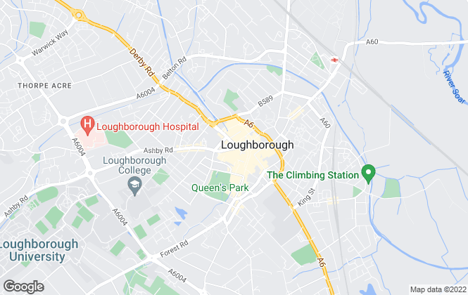 Map for Hartleys, Loughborough