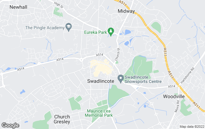 Map for Your Move , Swadlincote