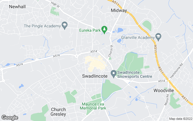 Map for YOUR MOVE, Swadlincote