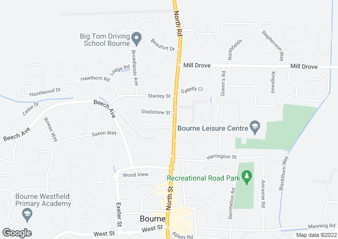 Map for The Croft, North Road, Bourne