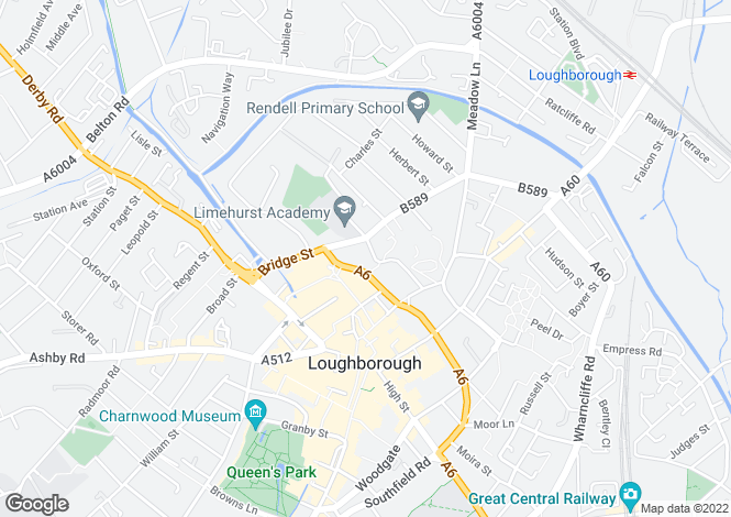 Map for Rectory Place, Loughborough, Leicestershire, LE11