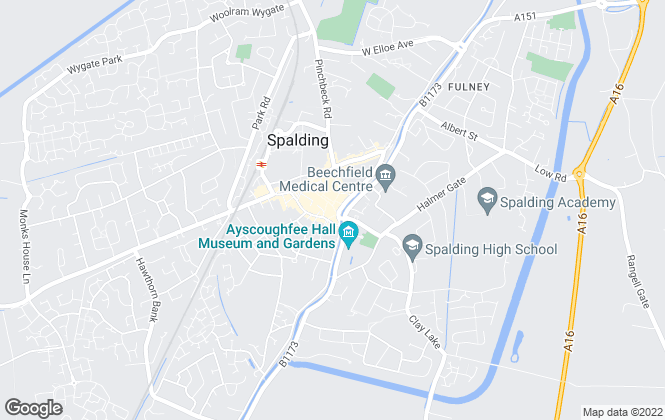 Map for Pygott & Crone, Spalding