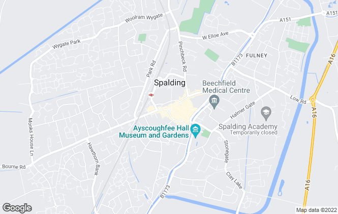 Map for Munton & Russell, Spalding