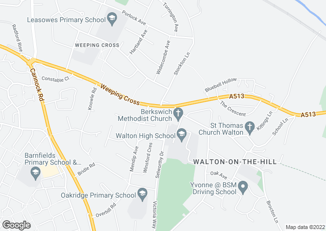 Map for Weeping Cross, Stafford, ST17 0DH