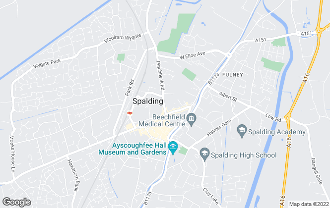 Map for Jigsaw Lettings, Spalding