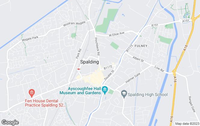Map for Belvoir, Spalding