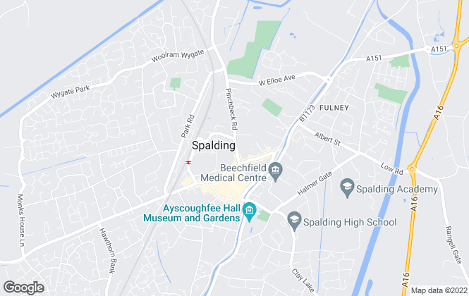 Map for DGG Property Consultants Ltd, Spalding