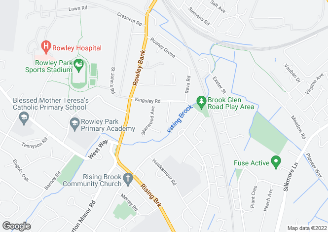 Map for Kingsley Close, Stafford, Staffordshire
