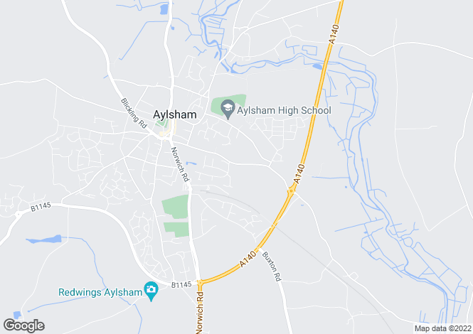 Map for Burgh Road, Aylsham, Norfolk