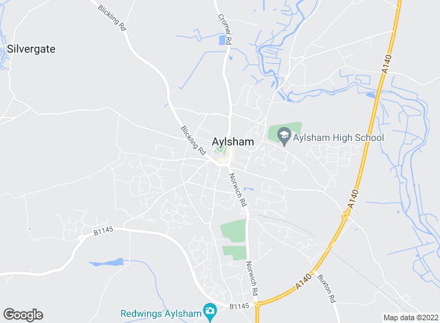 Map for Arnolds Keys, Aylsham