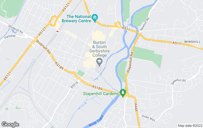 Map for Abode, Burton Upon Trent