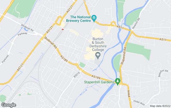 Map for John German, Burton upon Trent
