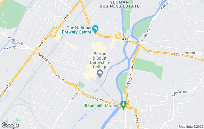 Map for Your Move , Burton On Trent