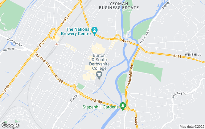 Map for YOUR MOVE, Burton On Trent