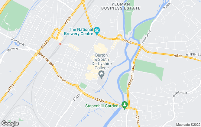 Map for Burchell Edwards, Burton-upon-Trent