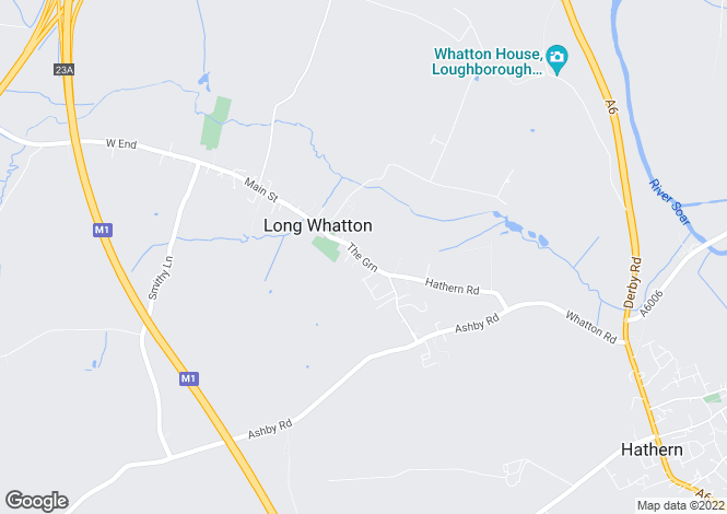 Map for The Green, Long Whatton