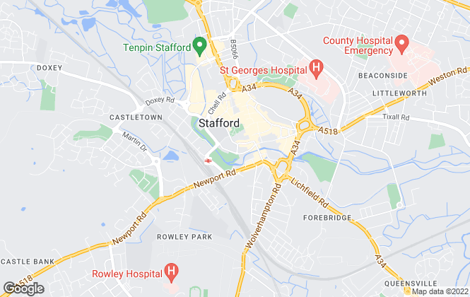 Map for YOUR MOVE Neil John Lettings, Stafford