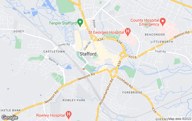 Map for M D Properties, Stafford