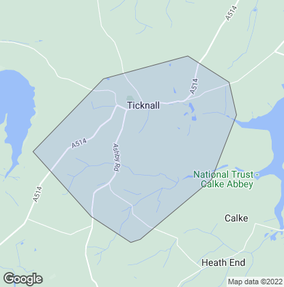 Map of property in Ticknall