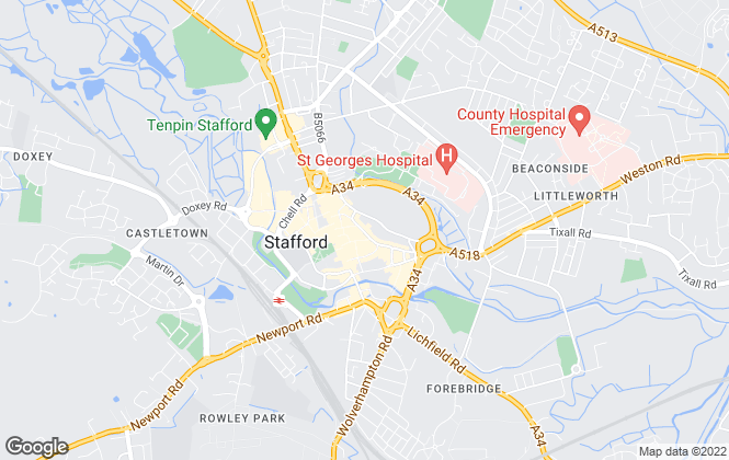 Map for Clothier & Day, Stafford