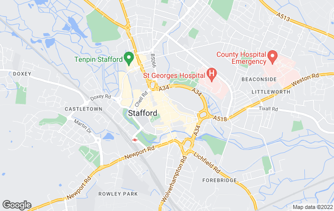 Map for Nicolsons The Estate Agents, Stafford