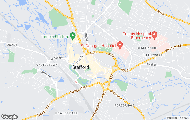 Map for Connells, Stafford