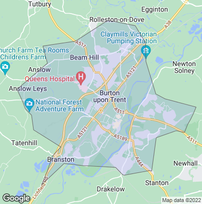 Map of property in Burton-Upon-Trent