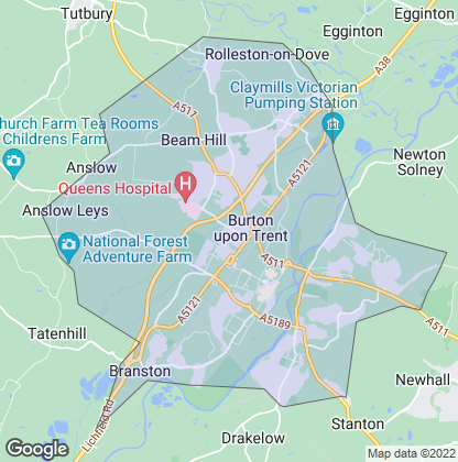 Map of property in Burton-On-Trent