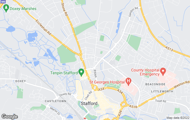 Map for Castle Estates, Stafford